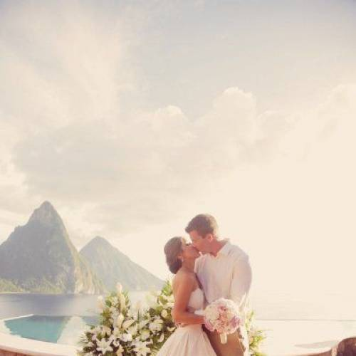 Tropical destination wedding in St.Lucia